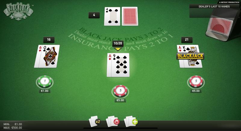 Different online Blackjack variants