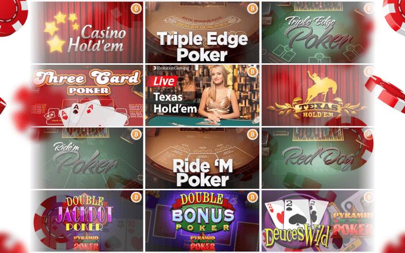 Different online poker games