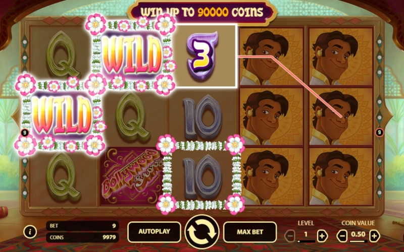 Bollywood Story online slot gameplay