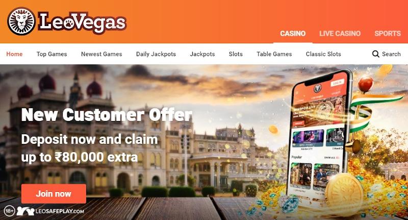 LeoVegas homepage India