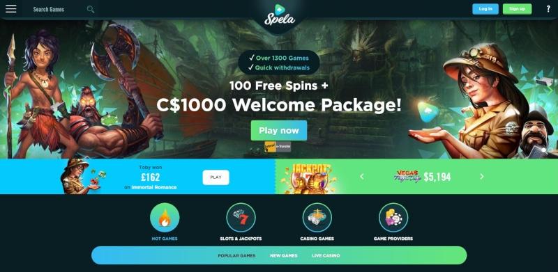 Spela Casino Welcome Package